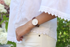 daniel wellington watch brown leather strap