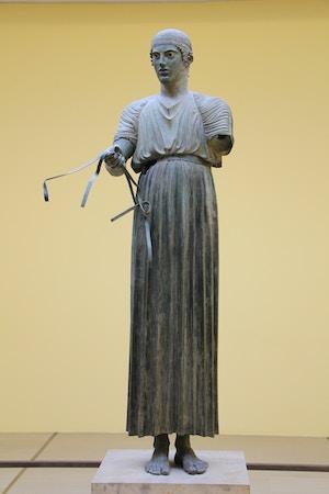 delphi museum bronze statue