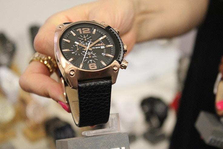 diesel watch rose gold mens