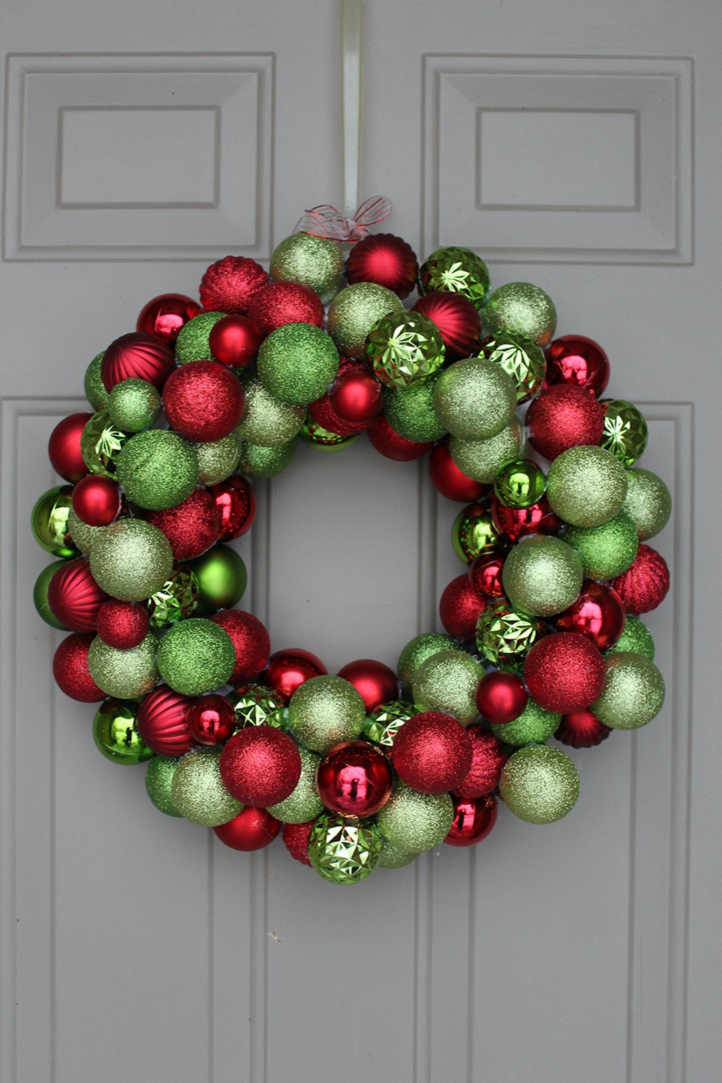 DIY: Ornament Wreath under $30