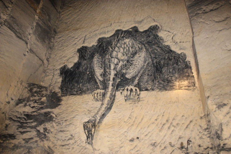 dragon drawing maastricht caves