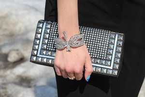 dragonfly bracelet studded clutch