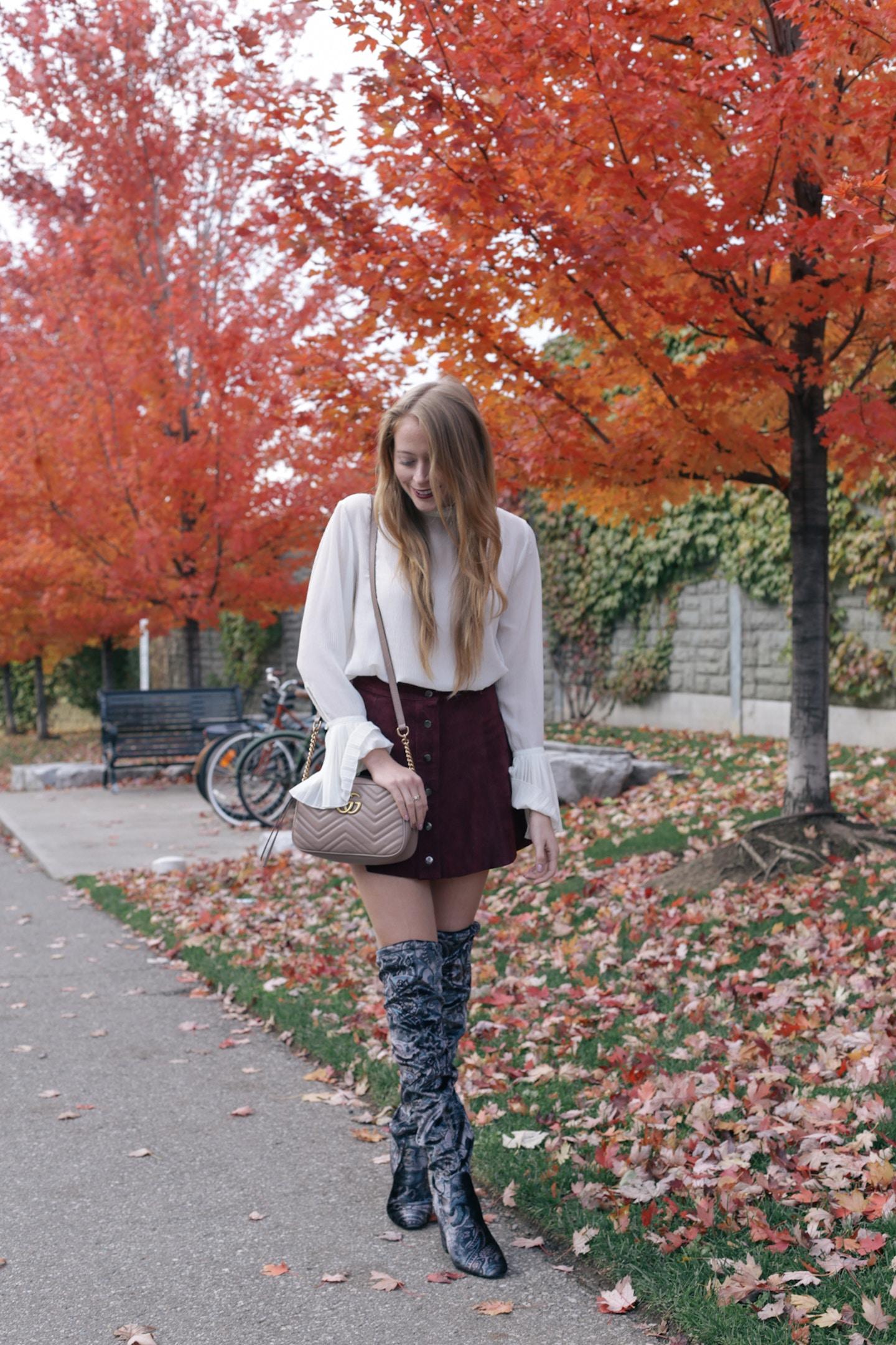 Velvet over-the-knee-boots