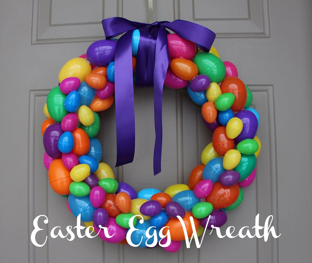 DIY: Easter egg wreath