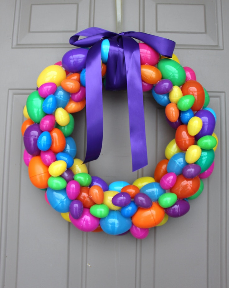 easter egg homemade wreath
