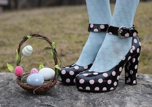 easter eggs polka dot platforms