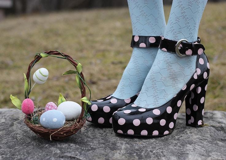 easter eggs polka dot platforms