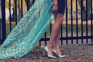 elsa snowflake cape and silver shoes 2