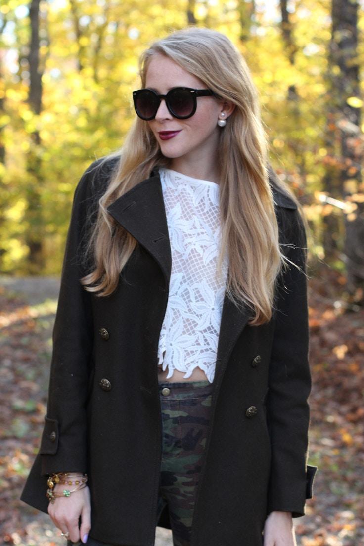 emma sunglasses double pearl earrings