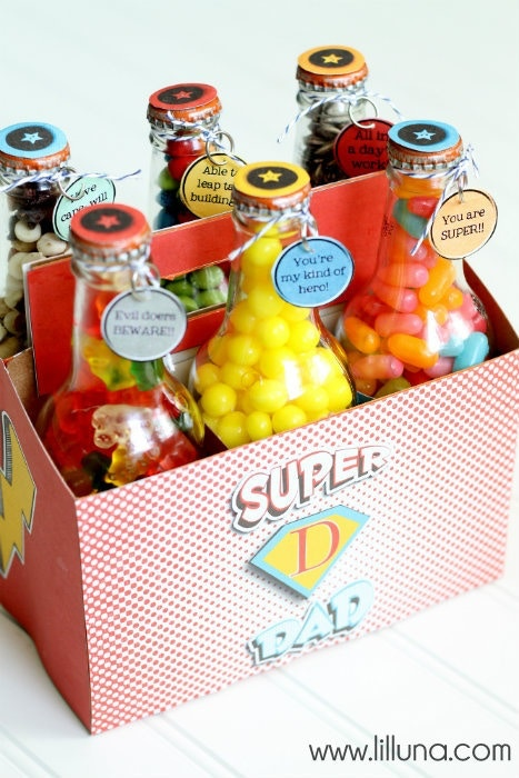 father's day gift idea candy bottles