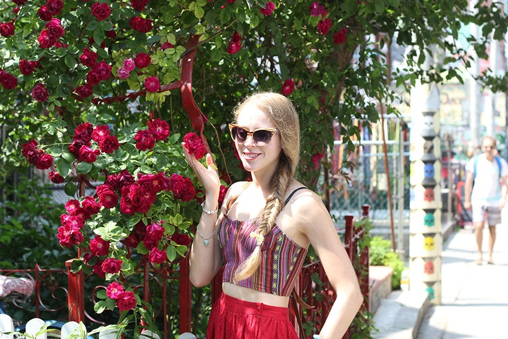 fishtail braid roses
