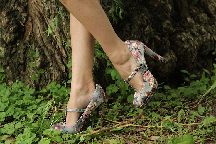 floral forever 21 heels