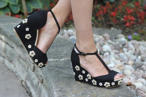 floral prada wedges