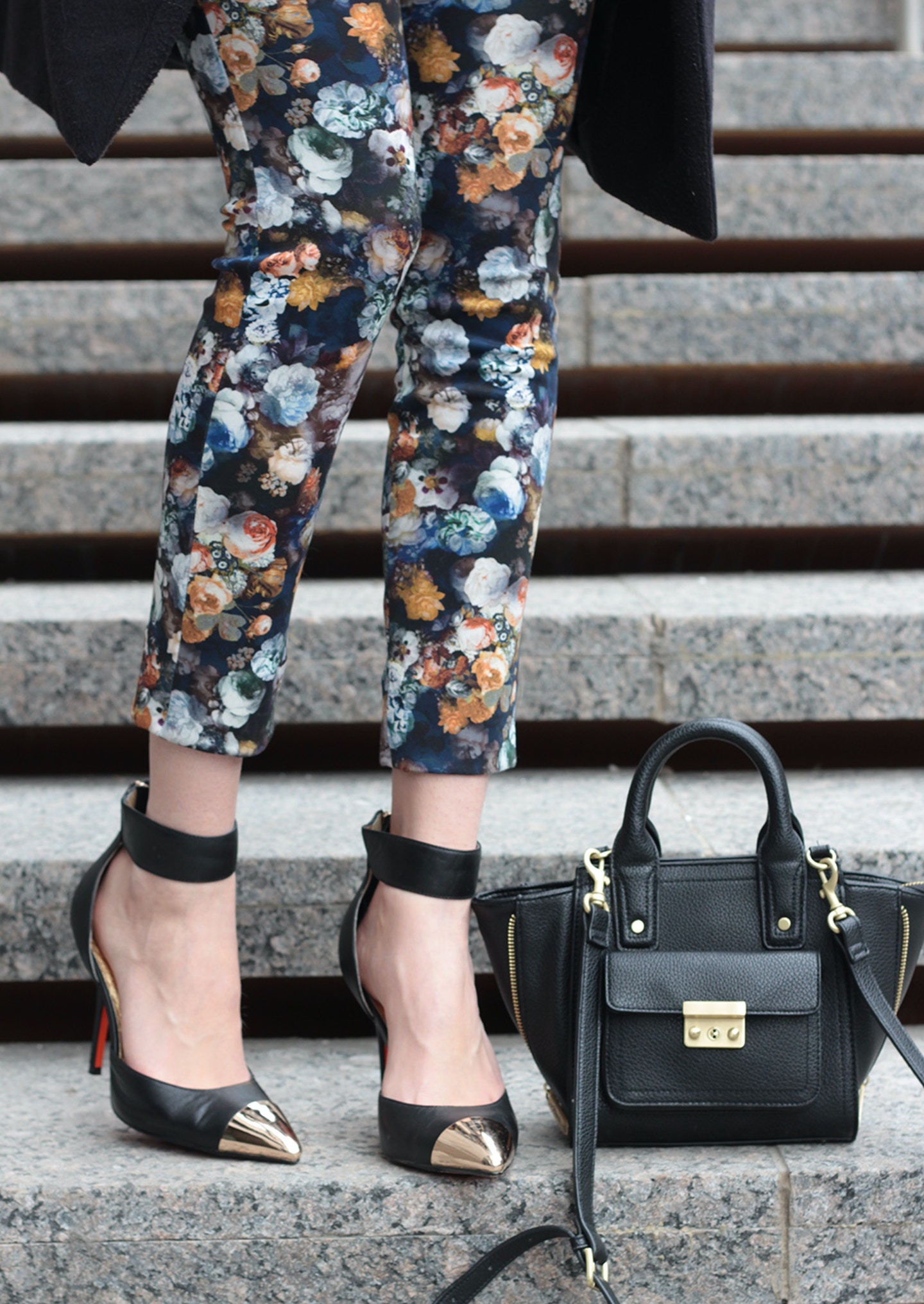 Floral scuba leggings