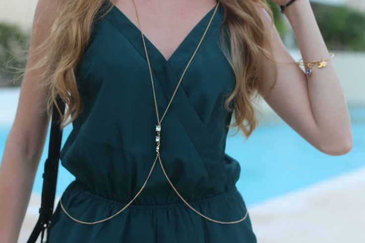 forever 21 body chain