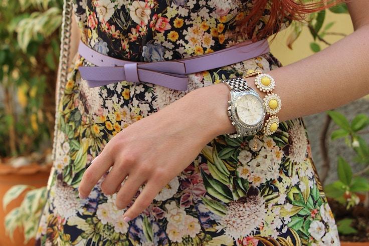 forever 21 daisy bracelet silver pressly michael kors watch