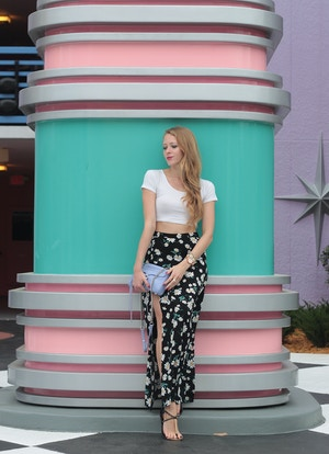 forever 21 daisy maxi skirt 3
