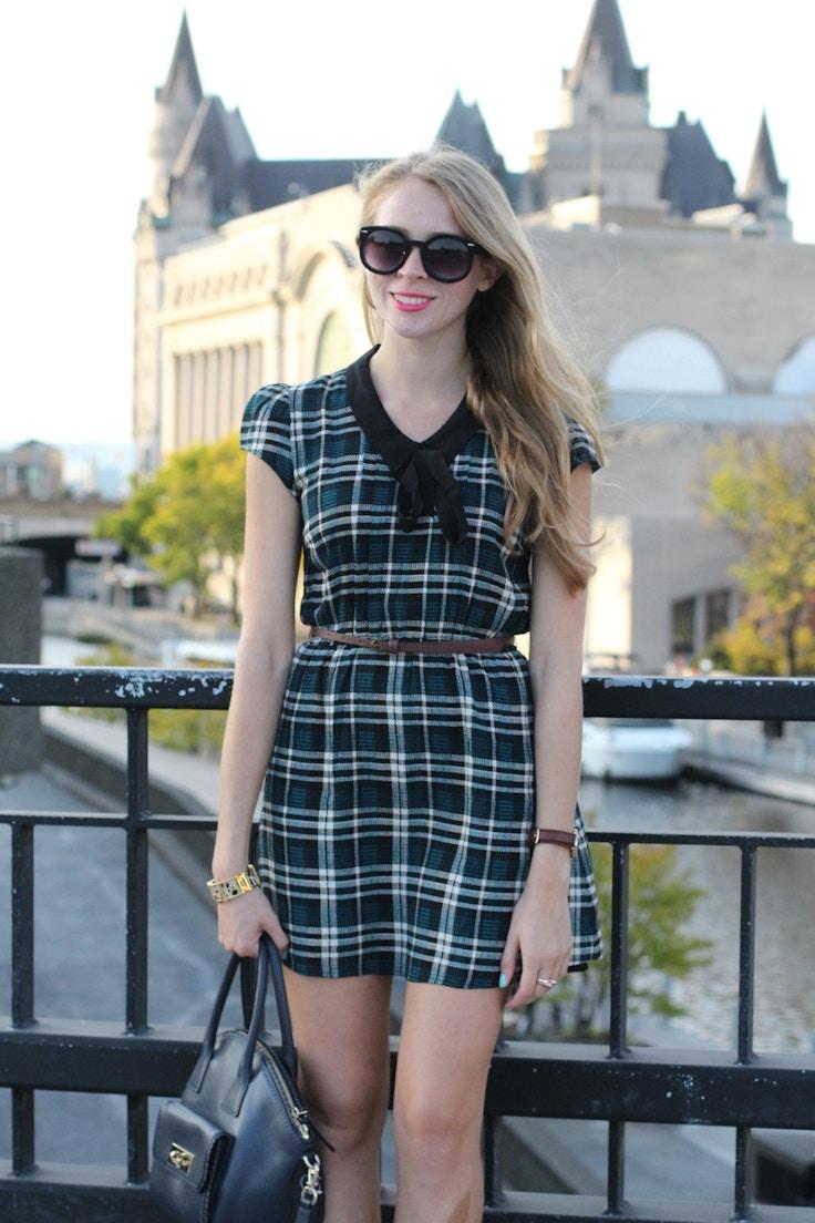 forever 21 green plaid dress