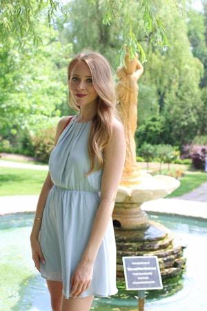 forever 21 light blue halter dress (5 of 8)