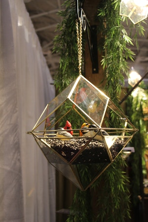 geometric bird feeder