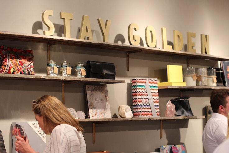 gold letters shelf decor