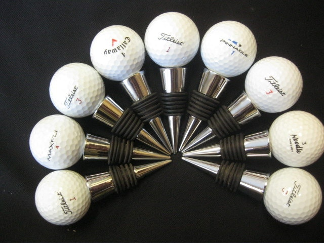 golf ball wine stopper father's day gift