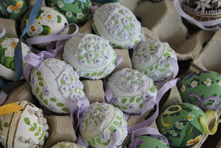 gorgeous handpainted easter eggs