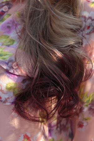 grape kool aid on strawberry blonde hair