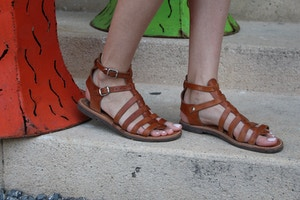 greek leather gladiators