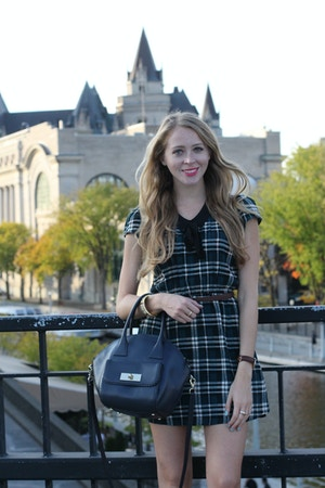 green plaid dress for fall