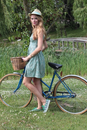 green vintage dress kate spade for keds fall 2014