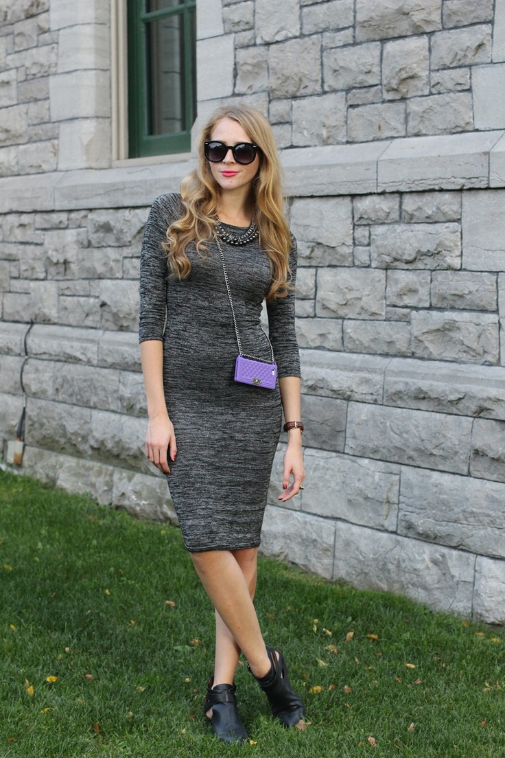 grey midi dress jeffrey campbell booties
