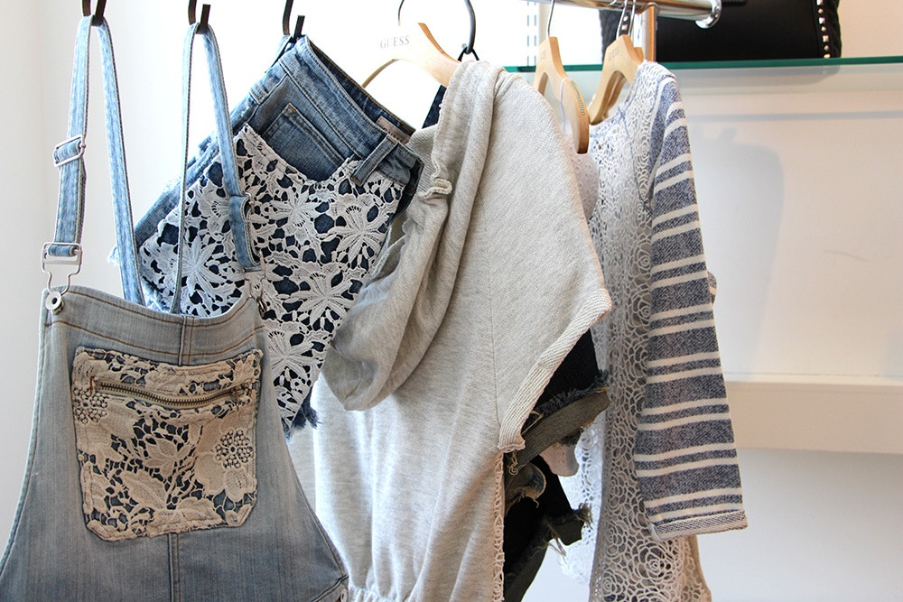 guess summer 2014 denim and lace