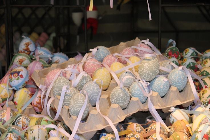 handpainted easter eggs