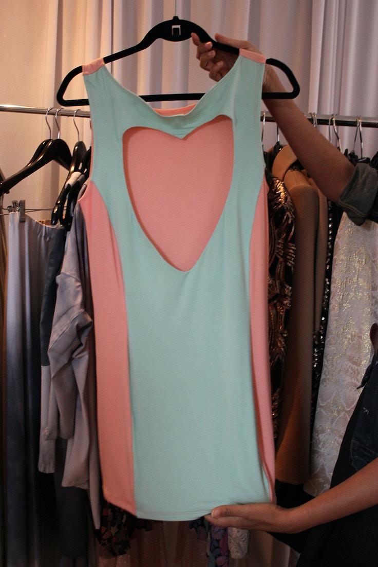 heart back dress