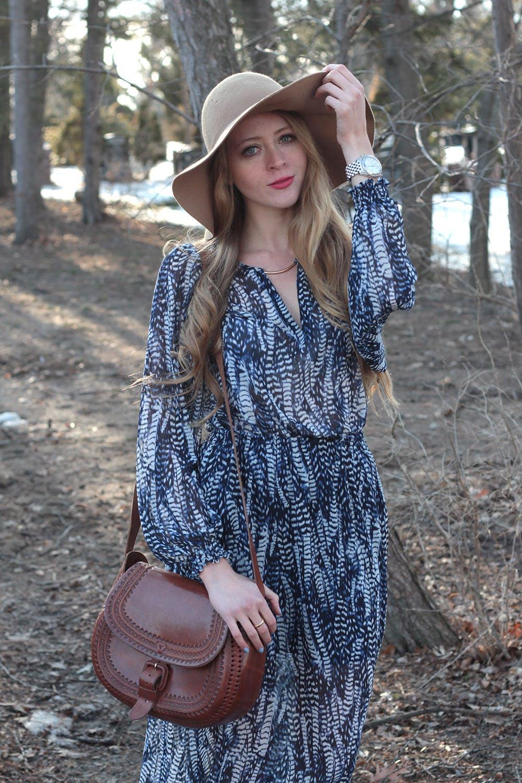 Songbird – Maxi dress and floppy hat
