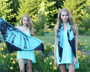 how to tie a silk scarf draped