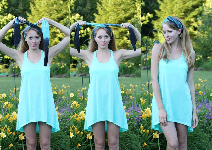 how to tie a turban from a silk scarf