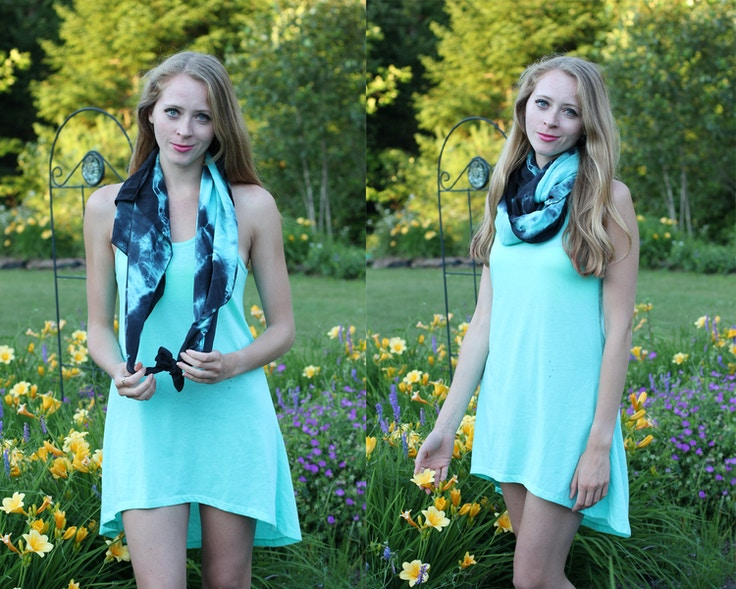 how to tie an infinity scarf