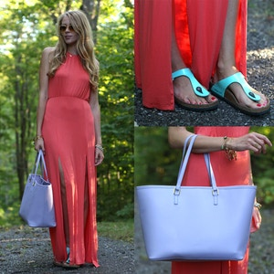 how to wear birkenstock gizeh sandals with maxi dress