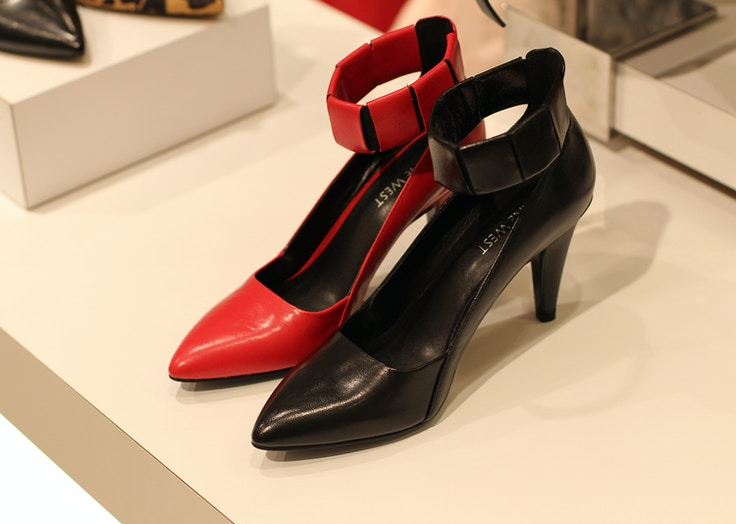 instyle for nine west fall 2014 red black shoes