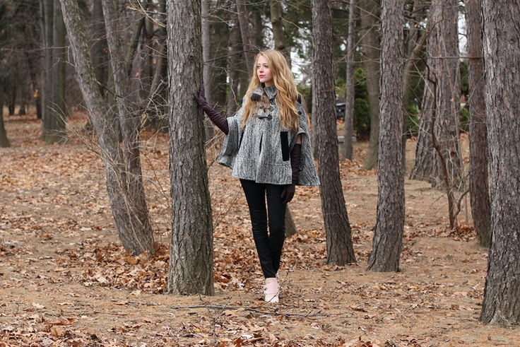 into the woods tweed cape