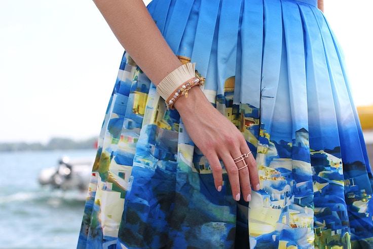 iris sandals leather coin bracelet