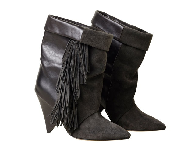 isabel marant for h&m fringed boots