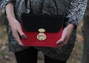 isabel marant for h&m red bag
