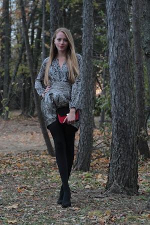 isabel marant for h&m silver skirt