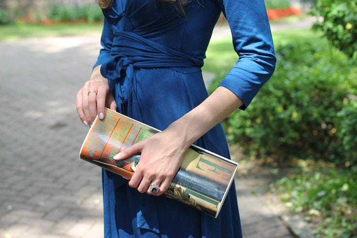 issa wrap dress detail