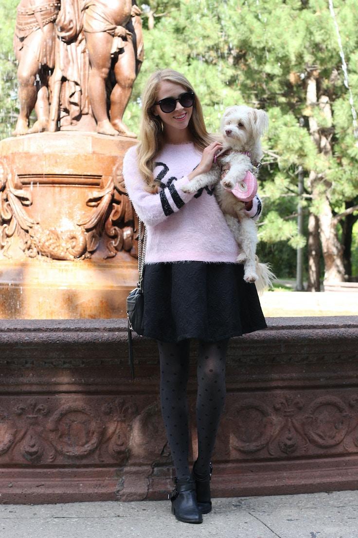 jacquard skirt barbie sweater