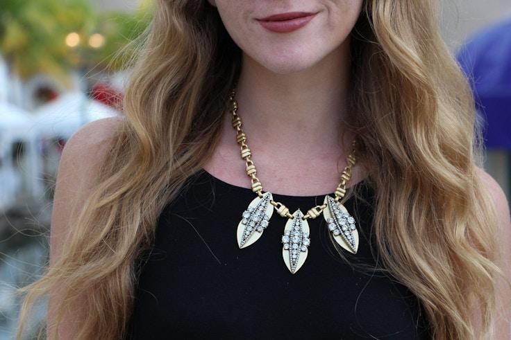 jcrew gold statement necklace