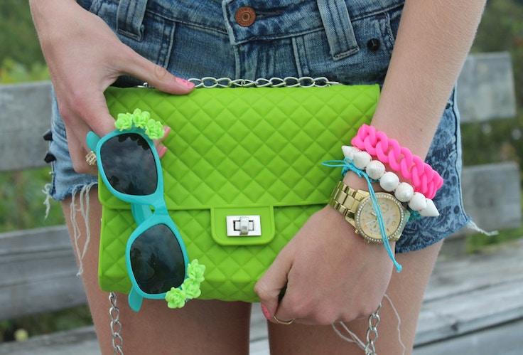 jelly lime purse diy sunnies